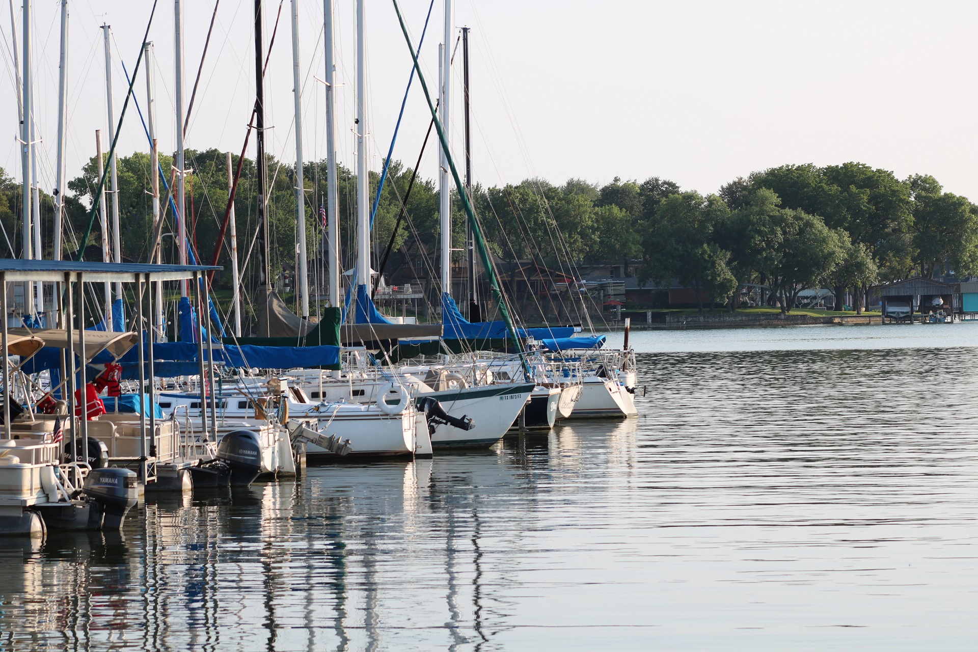 Sail Boats at Dock w/Evening sun