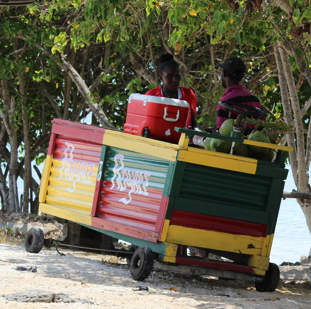 Street cart in Jamaica